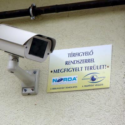 Térfigyelő kamerarendszer építése