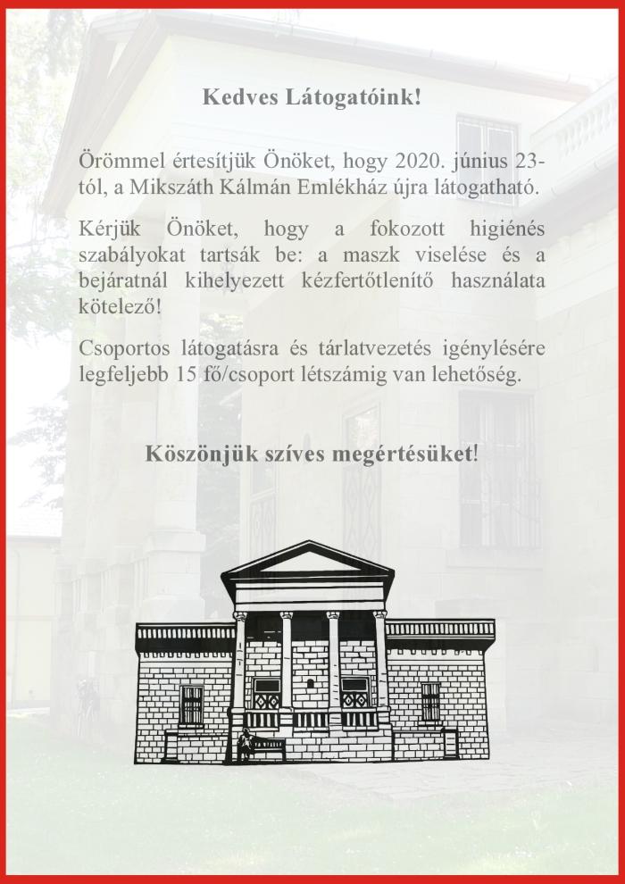 Mikszáth Kálmán Emlékház újra látogatható